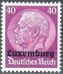 German Occupation-Luxembourg 1940 Stamps of Germany (1933-1936) Overprinted in Black l