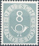 Germany, Federal Republic 1951 Posthorn and Numbers e