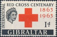 Gibraltar 1963 100th Anniversary of the International Red Cross a