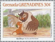 Grenada Grenadines 1988 The Disney Animal Stories in Postage Stamps 2a