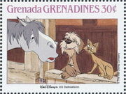 Grenada Grenadines 1988 The Disney Animal Stories in Postage Stamps 3e