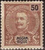 Mozambique 1903 D. Carlos I - New Values and Colors c