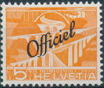 Switzerland 1950 Engineering - Switzerland Postage Stamps of 1949 Overprinted Officiel a
