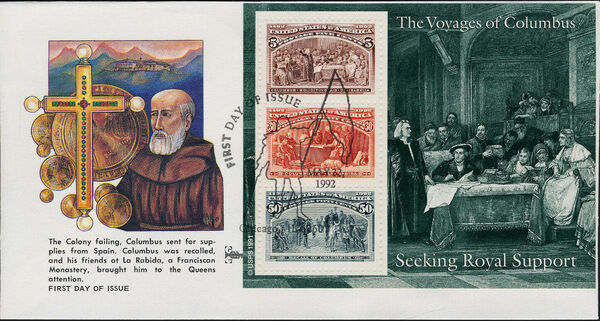 United States of America 1992 Voyages of Columbus FDCu