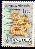 Angola 1955 Map of Angola d