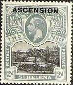 """Ascension 1922 Stamps of St. Helena Overprinted """"ASCENSION"""" d"""