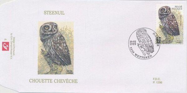 Belgium 1999 Owls FDCb