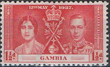 Gambia 1937 George VI Coronation b