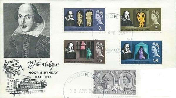 Great Britain 1964 400th Anniversary of the Birth of William Shakespeare FDCe