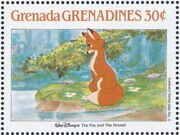 Grenada Grenadines 1988 The Disney Animal Stories in Postage Stamps 2h