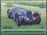 Nevis 1985 Leaders of the World - Auto 100 (3rd Group) j