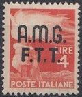 Trieste-Zone A 1947 Democracy (Italy Postage Stamps of 1945 Overprinted) f