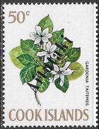 Aitutaki 1972 Flowers from Cook Islands Overprinted AITUTAKI i