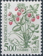 Andorra-French 1985 Flowers (Postage Due Stamps) j