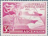 Ascension 1949 75th Anniversary of Universal Postal Union UPU