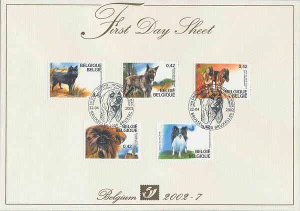 Belgium 2002 Belgian Dog Breeds FDSa