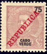 Cape Verde 1911 D. Carlos I Overprinted h