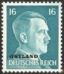 German Occupation-Russia Ostland 1941 Stamps of German Reich Overprinted in Black j