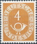Germany, Federal Republic 1951 Posthorn and Numbers b
