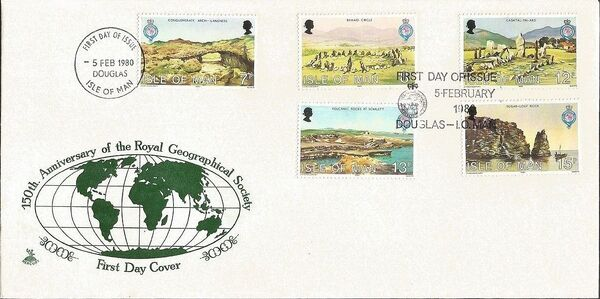 Isle of Man 1980 150th Anniversary of the Royal Geographical Society h