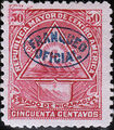 Nicaragua 1898 Official Stamps Overprinted in Blue h.jpg