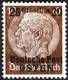 Poland-General Government 1939 Stamps from German Empire 1905 Surcharged and Overprinted e