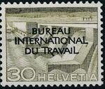 Switzerland 1950 Landscapes and Technology Official Stamps for The International Labor Bureau f