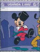 Uganda 1992 Walt Disney Characters on World Tour j