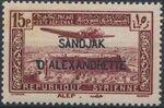 "Alexandretta 1938 Air Post Stamps of Syria (1937) Overprinted ""SANDJAK D'ALEXANDRETTE"" in Red or Black g"