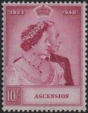 Ascension 1948 Silver Wedding of King George VI & Queen Elizabeth b