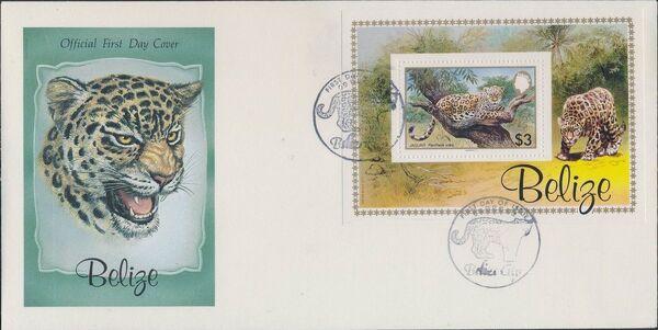 Belize 1983 WWF - Jaguar FDCe