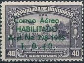 Honduras 1945 Air Post Stamps of 1937-1939 Surcharged g