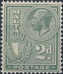 Malta 1926 King George V and Coat of Arms e