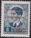Montenegro 1941 Yugoslavia Stamps Surcharged under Italian Occupation o