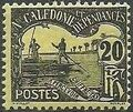 New Caledonia 1906 Men Poling (Postage due Stamps) d.jpg