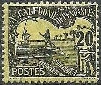 New Caledonia 1906 Men Poling (Postage due Stamps) d
