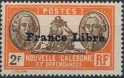 "New Caledonia 1941 Definitives of 1928 Overprinted in black ""France Libre"" zc"