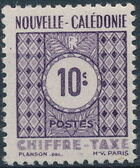 New Caledonia 1948 Numerals (Official Stamps) a