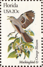 United States of America 1982 State birds and flowers h