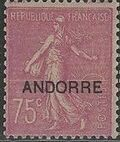"Andorra-French 1931 Type ""Semeuse"" of France Overprinted ""ANDORRE"" i"