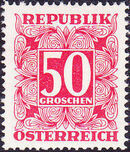 Austria 1949 Postage Due Stamps - Square frame with digit (1st Group) h