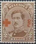 Belgium 1918 King Albert I (Red Cross Charity) b