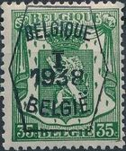 Belgium 1938 Coat of Arms - Precancel (1st Group) e