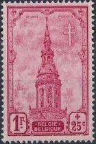 Belgium 1939 Anti Tuberculosis - Belfries e