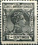 Elobey, Annobon and Corisco 1907 King Alfonso XIII b