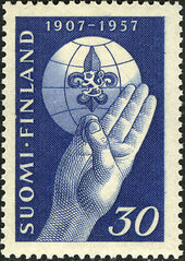 Finland 1957 50th Anniversary of Boy Scouts a