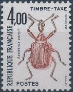 France 1982 Insects - Postage Due Stamps (1st Issue) f