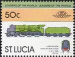 St Lucia 1983 Leaders of the World - LOCO 100 o