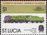 St Lucia 1983 Leaders of the World - LOCO 100 q