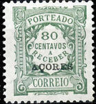 Azores 1924 Postage Due Stamps of Portugal Overprinted (3rd Group) i